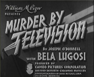 Murder By Television title screen