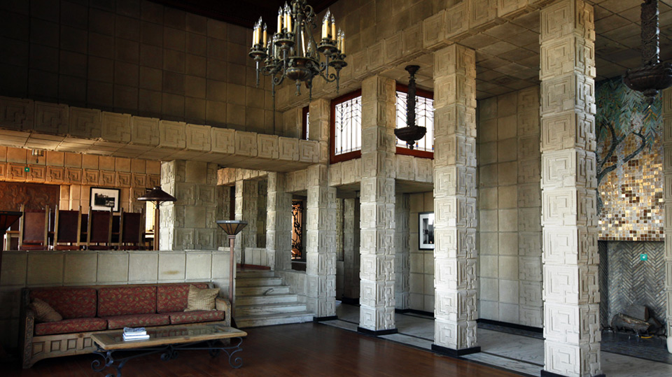 ennis brown house interior
