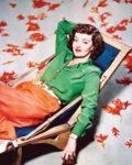 Bette Davis circa 1940, in color