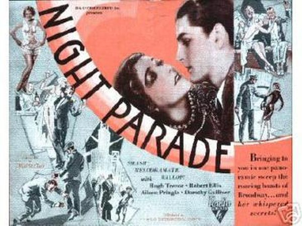 Night Parade 1929 lobby card