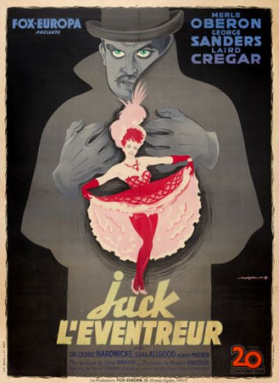 The Lodger 1944 French poster