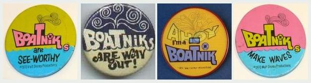 The Boatniks publicity buttons