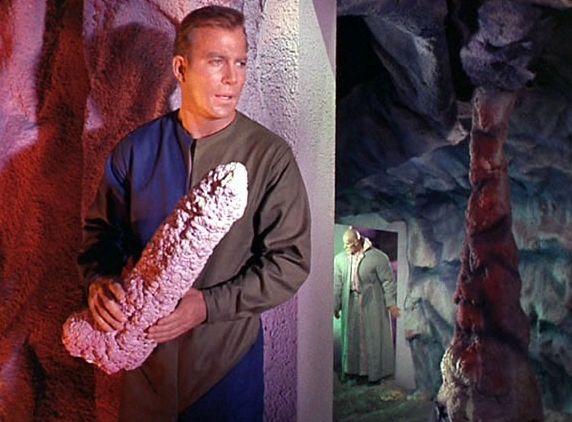 Captain Kirk and his pink stalagtite