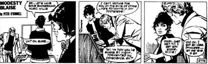 Modesty Blaise comic panel