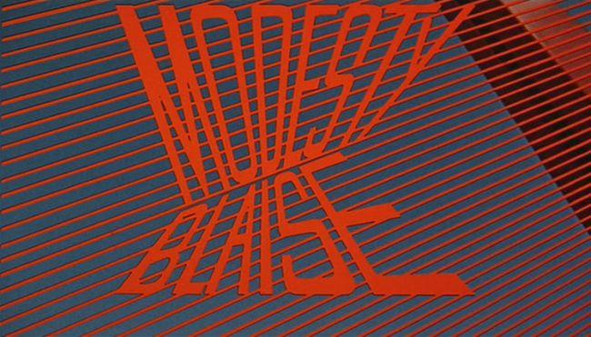 Modesty Blaise title screen