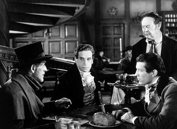 boris karloff and henry daniell in the body snatcher