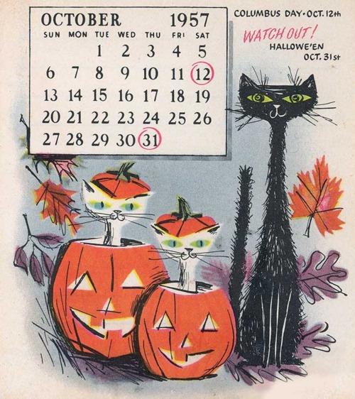 Halloween Calendar, 1957