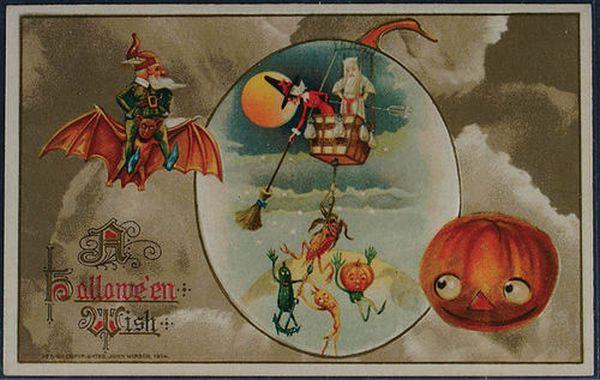 Halloween Postcard, Circa 1915