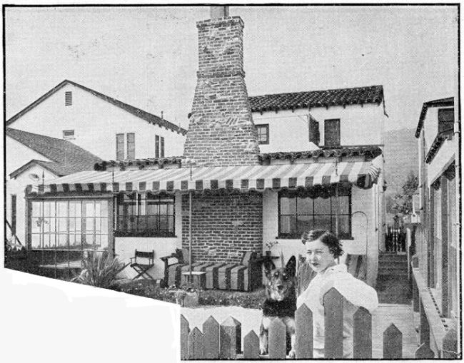 Marie Prevost at home, early 1930s