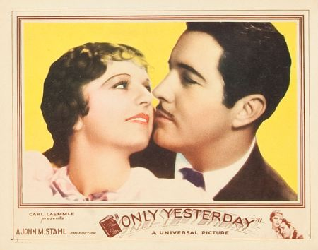 Only Yesterday lobby card