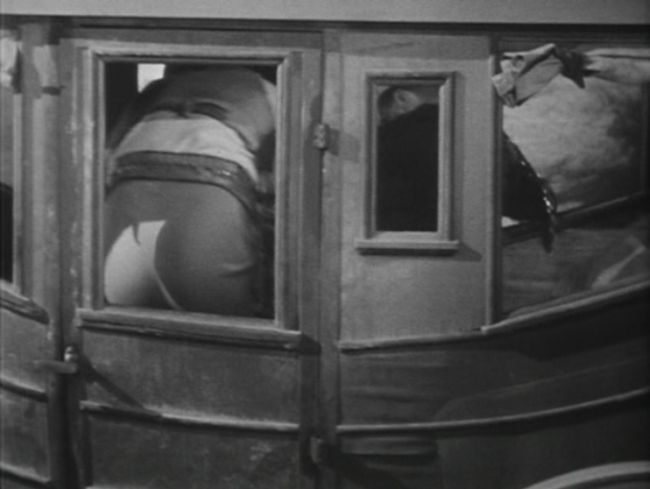 Butt Pressed Against Glass