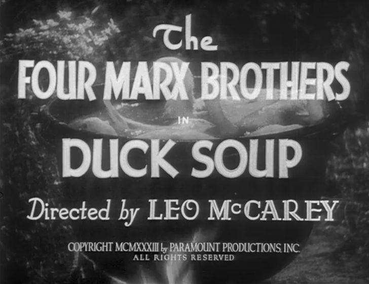 Duck Soup (1933) title screen