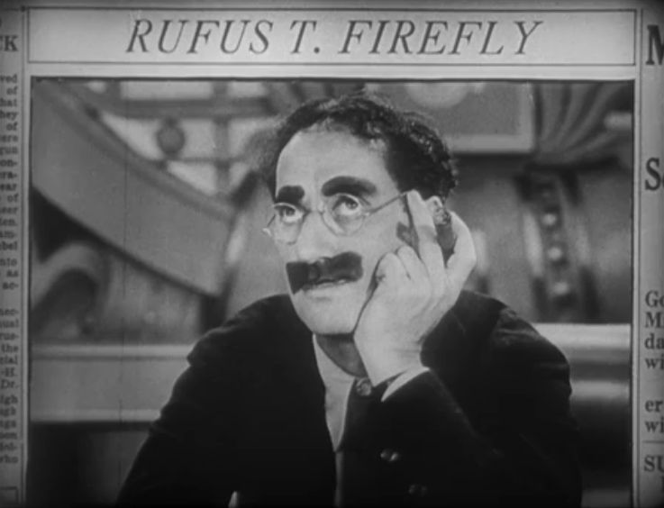 Groucho Marx as Rufus T. Firefly in Duck Soup