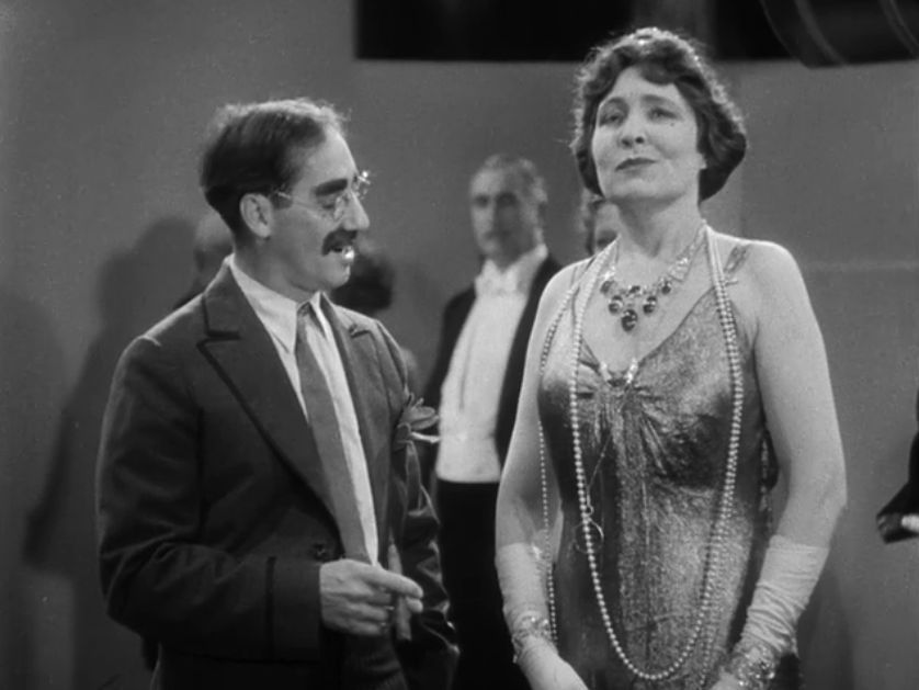 Groucho Marx and Margaret Dumont in Duck Soup