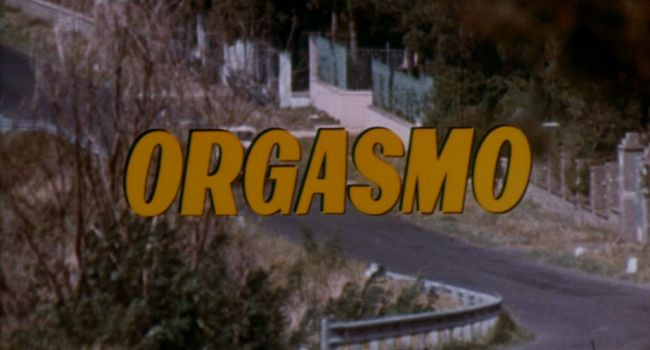 Orgasmo - title screen