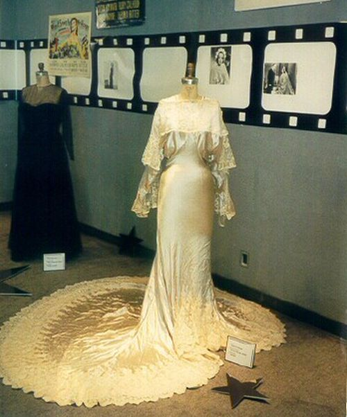 I Live My Life - wedding gown worn by Joan Crawford, courtesy joancrawfordbest.com