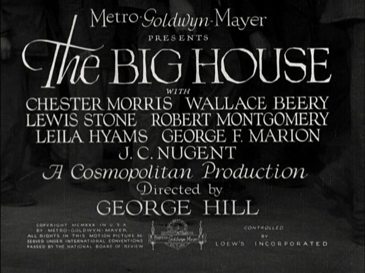 The Big House title screen