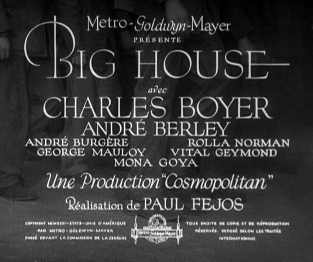 The Big House - French version