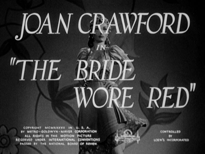 The Bride Wore Red title screen