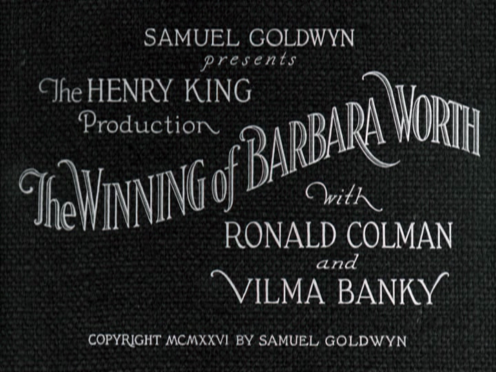 winning of barbara worth title screen