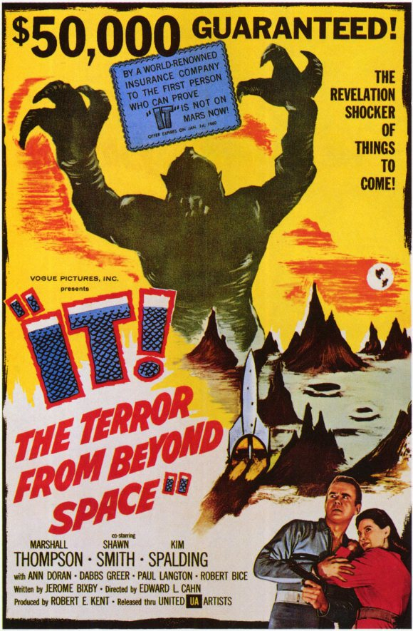 it the terror from outer space poster