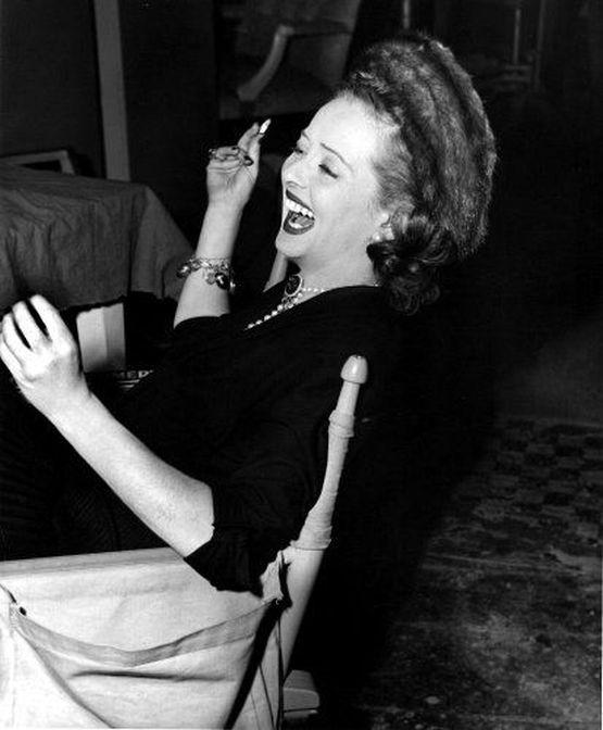 "Bette Davis on the set of ""June Bride,"" 1948. Photo by Morgan"