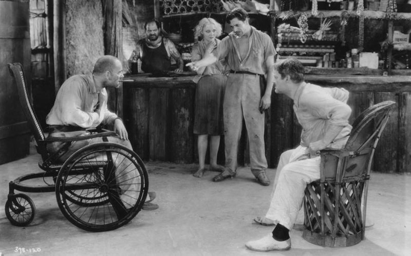 Lon Chaney, Mary Nolan, Warner Baxter and Lionel Barrymore in West of Zanzibar
