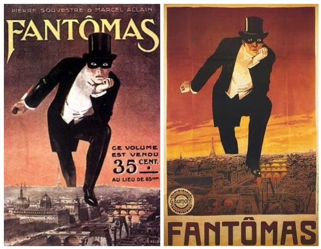 Fantomas - Novel and Poster comparison