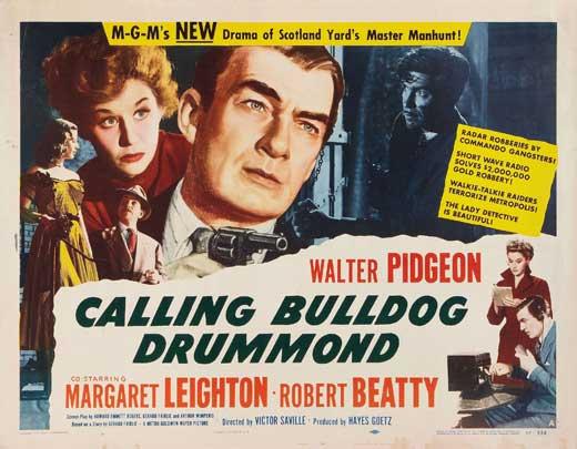 Calling Bulldog Drummond lobby card