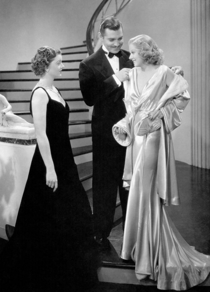 Myrna Loy, Clark Gable and Jean Harlow in Wife vs Secretary (1936)
